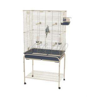 Klietka pre vtáky PAROS 82 modrá - 82 x 51 x 110 cm