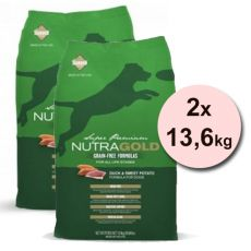 NUTRA GOLD Duck&Sweet Potato GRAIN FREE - 2 x 13,6 kg