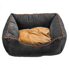 Pelech pre psy a mačky - sivý, 90 x 77 x 23 cm
