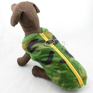 Bunda pre psa - elastický maskáč, S
