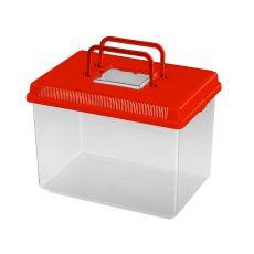 Plastová prepravka Ferplast GEO LARGE - červená, 6L
