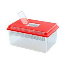 Prepravka pre plazy a hmyz GEO FLAT SMALL - červená, 4L