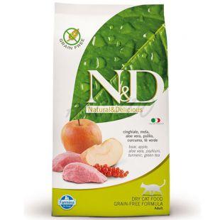 Farmina N&D cat GF ADULT Boar & Apple 10 kg