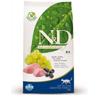 Farmina N&D cat GF ADULT Lamb & Blueberry 10 kg