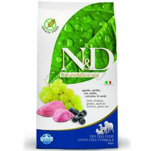Farmina N&D dog GF ADULT Lamb & Blueberry 2,5 kg