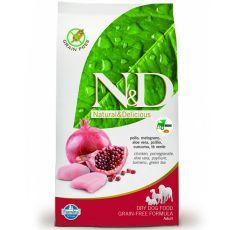 Farmina N&D dog GF ADULT MINI Chicken & Pomegranate 7 kg
