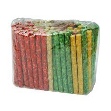 Tyčinky pre psov z hovädzej kože, farebné - 50 ks