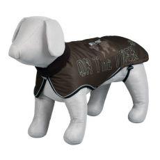 Kabát pre psa s reflexnými prvkami, hnedý - L / 62-75 cm