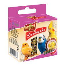 VITAPOL - medové srdiečko pre vtáky, 20 g