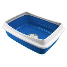 Toaleta pre mačky - modrá, 47 x 36 x 15,5 cm
