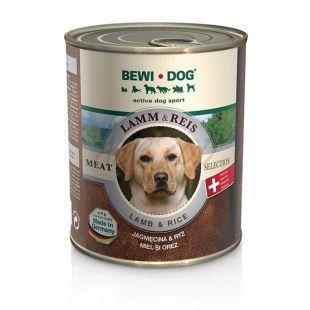 Konzerva BEWI DOG, jahňa + ryža, 800g
