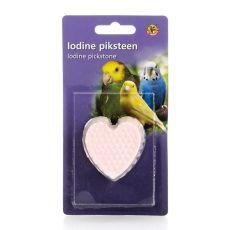 Minerálne srdce s jódom pre vtákov - 50g