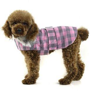 Bunda pre psa - ružovosivá, XL