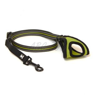 Vodítko pre psa Hurtta Jogging, 60-90cm x 20mm, zelené