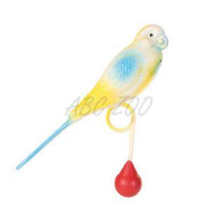 Hračka pre vtáky - andulka s guličkou, 12 cm