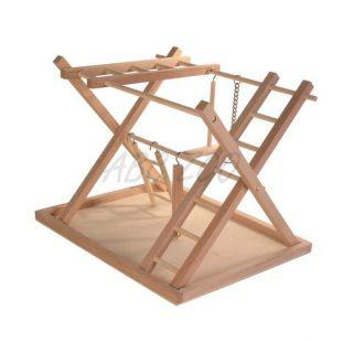 Hračka pre papagáje - drevené ihrisko, 36x26x29cm