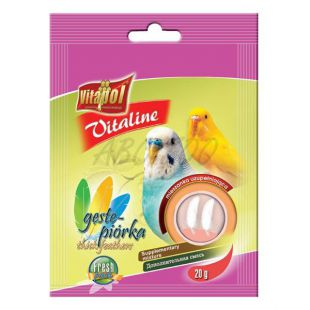 VITAPOL - zmes Vitaline husté pierka pre vtáky, 20 g