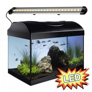 Akvárium STARTUP 40 LED Extra 2x4,3W - ROVNÉ - ČIERNE