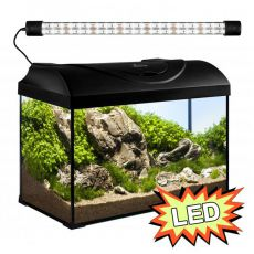Akvárium STARTUP 50 LED EXPERT 10W - ROVNÉ - ČIERNE