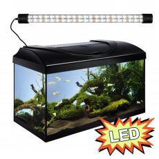 Akvárium STARTUP 60 LED Expert 10W - ROVNÉ - ČIERNE