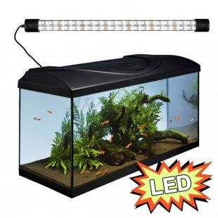 Akvárium STARTUP 80 LED Expert 17W - ROVNÉ - ČIERNE