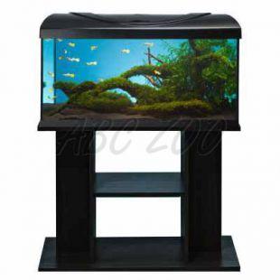 LED Akvárium komplet DIVERSA 112l - rovné + stolík BUDGET čierny