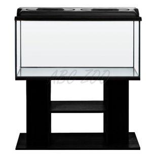 Akvárium komplet STARTUP SET 100 - rovné - čierne + stolík BUDGET