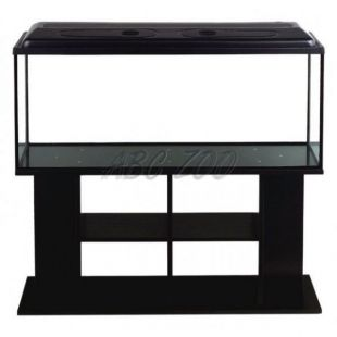 Akvárium komplet STARTUP SET 120 - rovné - čierne + stolík BUDGET