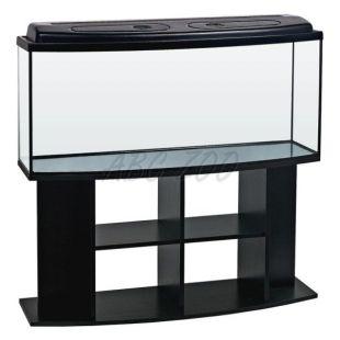 Akvárium komplet STARTUP SET 120 - oválne - čierne + stolík BUDGET