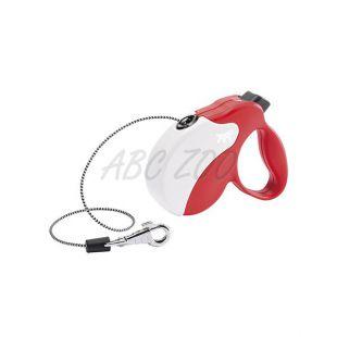 Vodítko Amigo Mini do 12kg - 3m lanko, červeno biele