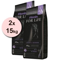 Fitmin FOR LIFE Light & Senior 2x15 kg + DOPRAVA ZDARMA