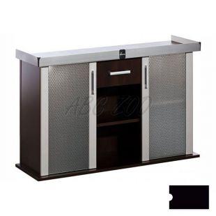 Stolík pod akvárium MODERN 120x40x77 cm DIVERSA - čierny, rovný