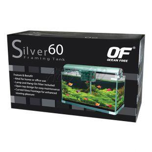 Akvárium OF SILVER 60 - strieborné 60L