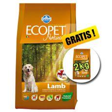 Farmina MO P ECOPET N dog LAMB MINI 12 kg + 2 kg ZADARMO