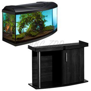 Akvárium komplet DIVERSA 112l - oblúk + stolík COMFORT čierny