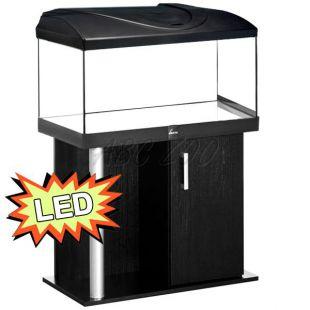 Akvárium STARTUP 80 LED Extra 2x10,1W - rovné + stolík COMFORT čierny