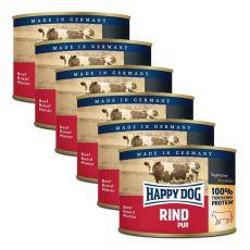 Happy Dog Pur - Rind/hovädzie, 6 x 200g, 5+1 GRATIS