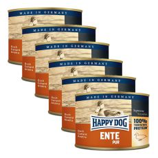 Happy Dog Pur - Ente/kačka, 6 x 200g, 5+1 GRATIS