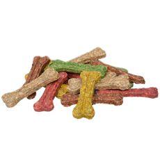 Kostička pre psov z hovädzej kože - farebná 12,5 cm - 50 ks