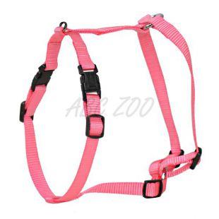 Postroj pre psy, nylonový - ružový, 20 - 28 cm