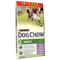 PURINA DOG CHOW ADULT Lamb 14 kg + 2,5 kg GRATIS