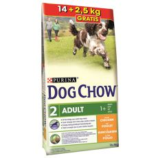 PURINA DOG CHOW ADULT Chicken 14 kg + 2,5 kg GRATIS