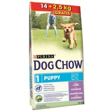 PURINA DOG CHOW PUPPY Lamb & Rice 14kg + 2,5 kg GRATIS