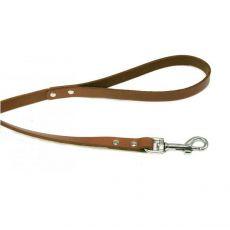 Kožené vodítko pre psa - béžové, 1,5 x 120-220cm