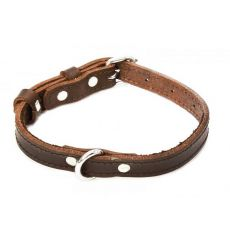 Kožený obojok pre psa - hnedý, 1,6 x 29-38cm