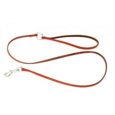 Kožené vodítko pre psa - červené, 1 x 120cm