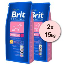 Brit Premium Junior Large 2 x 15kg