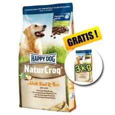 Happy Dog NaturCroq RIND UND REIS 15 + 3 kg GRATIS