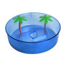Plastové terárium pre korytnačky - modrý kruh 24,5cm