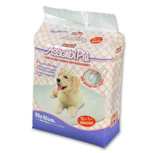 Hygienické podložky pre psov - 60 x 60 cm, 10+1 ZDARMA
